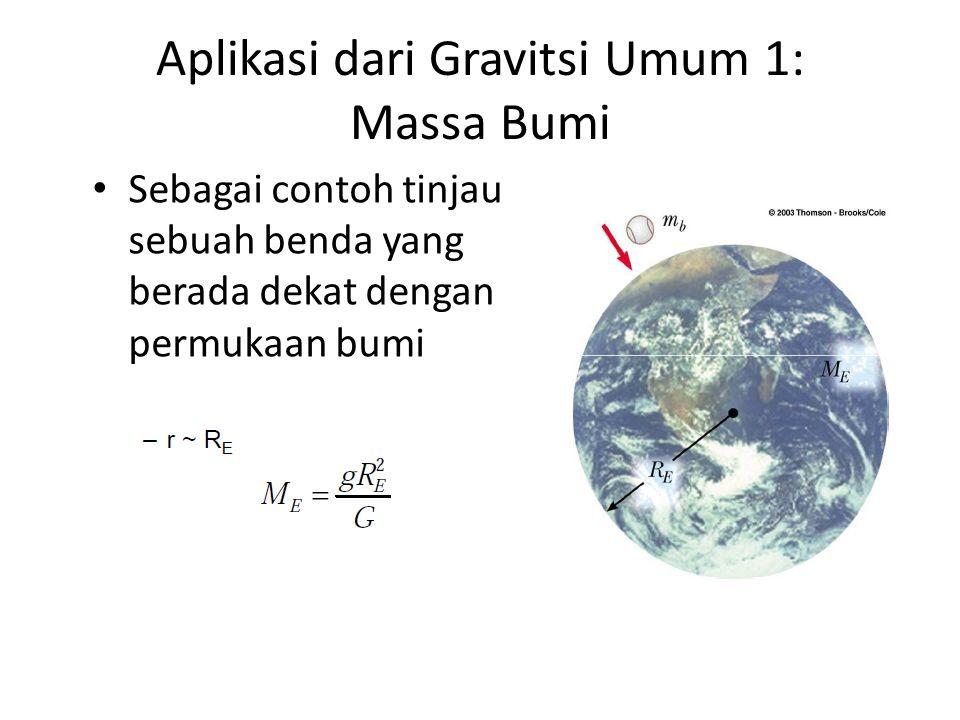Aplikasi dari Gravitsi Umum 1: Massa Bumi