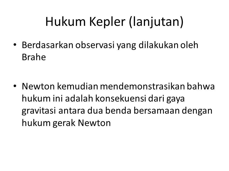 Hukum Kepler (lanjutan)