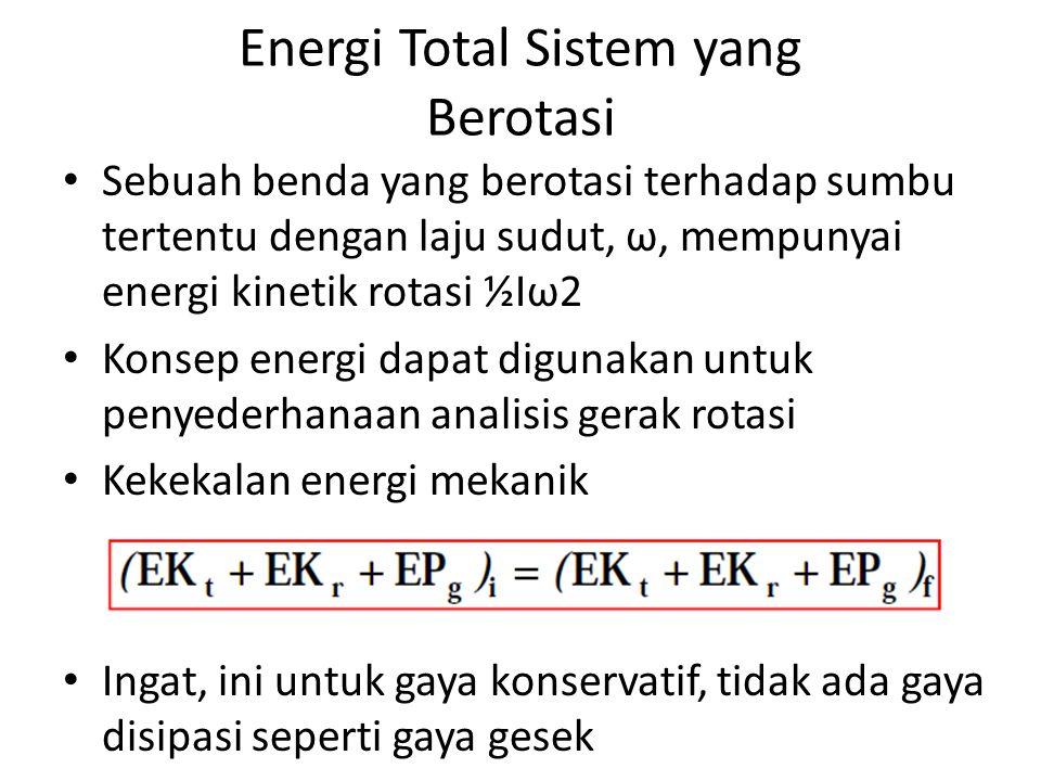 Energi Total Sistem yang Berotasi