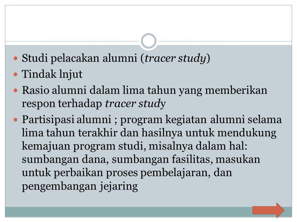 Studi pelacakan alumni (tracer study)