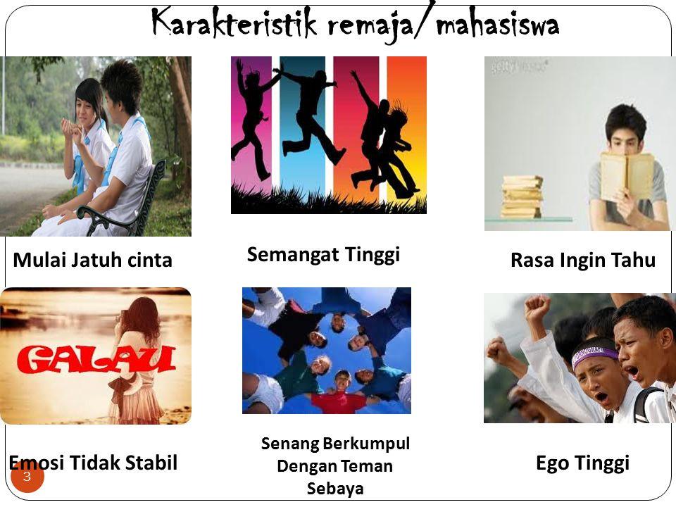 Karakteristik remaja/mahasiswa