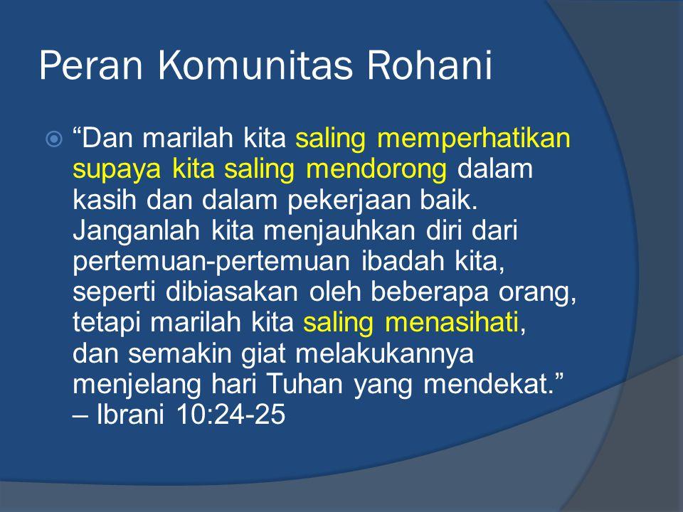 Peran Komunitas Rohani