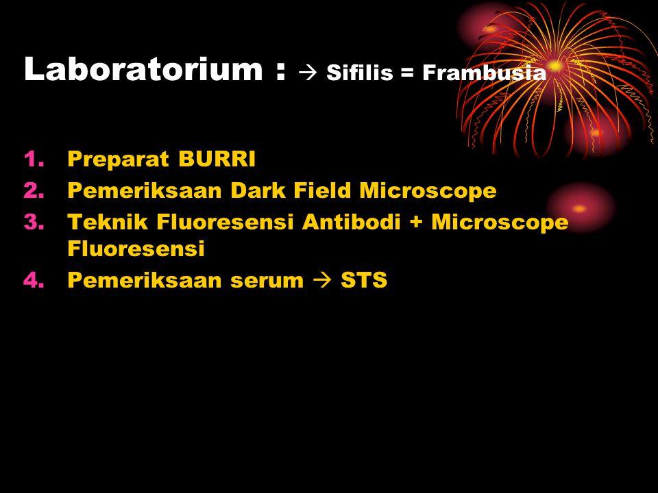 Laboratorium :  Sifilis = Frambusia
