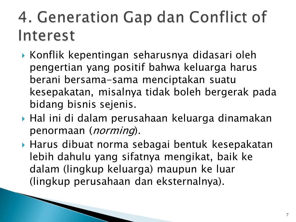 4. Generation Gap dan Conflict of Interest