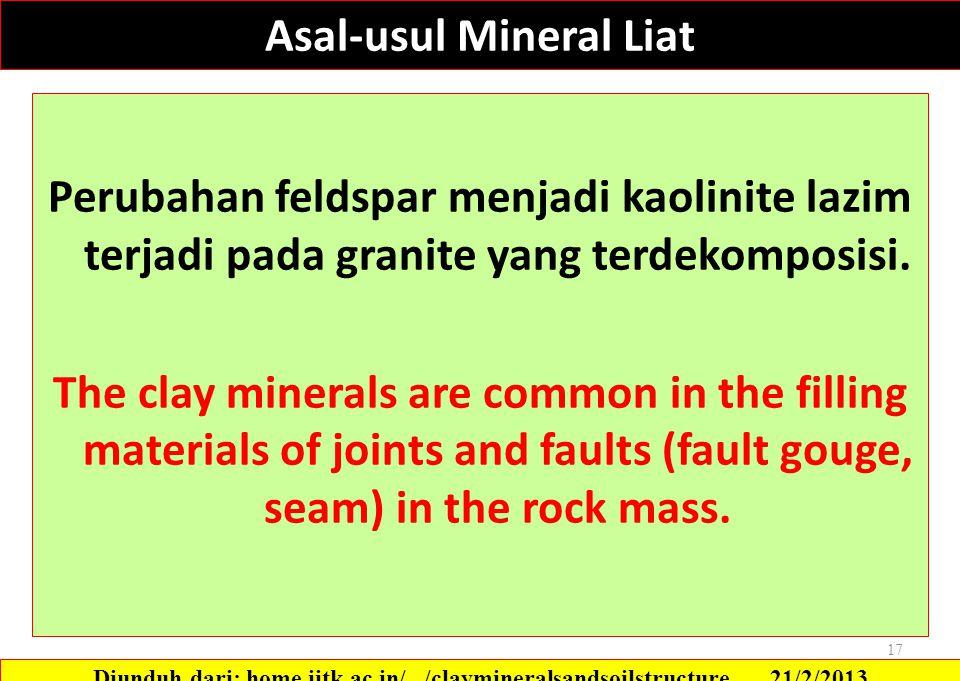Asal-usul Mineral Liat