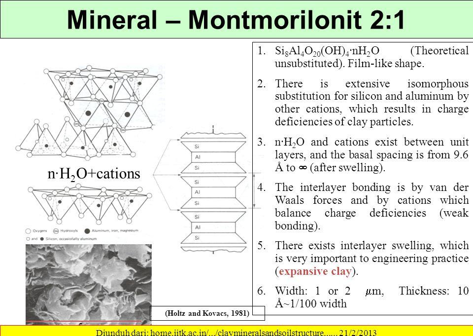 Mineral – Montmorilonit 2:1