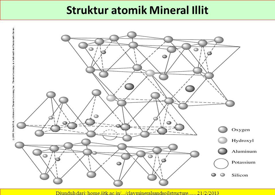 Struktur atomik Mineral Illit