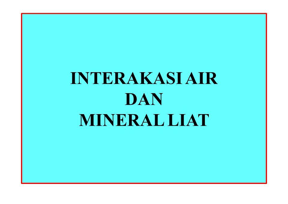 INTERAKASI AIR DAN MINERAL LIAT
