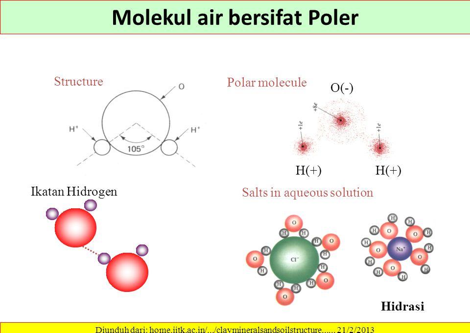 Molekul air bersifat Poler