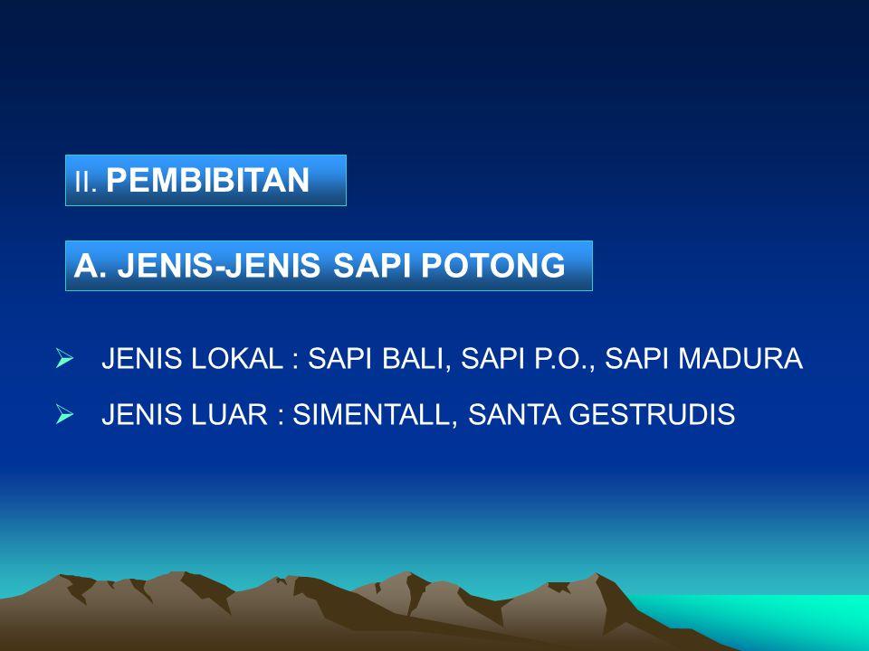 A. JENIS-JENIS SAPI POTONG