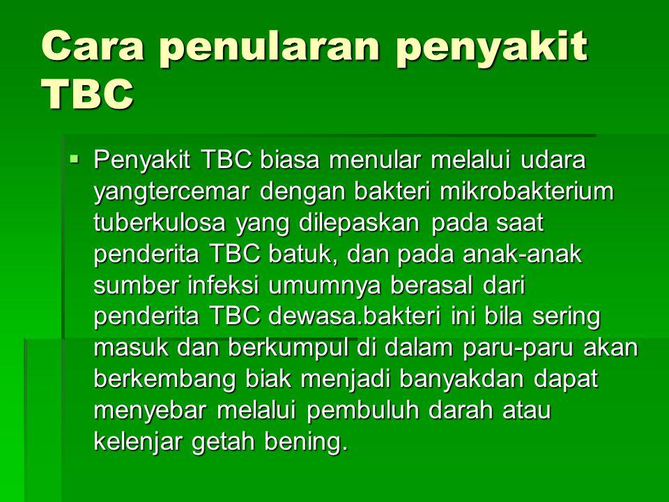 Cara penularan penyakit TBC