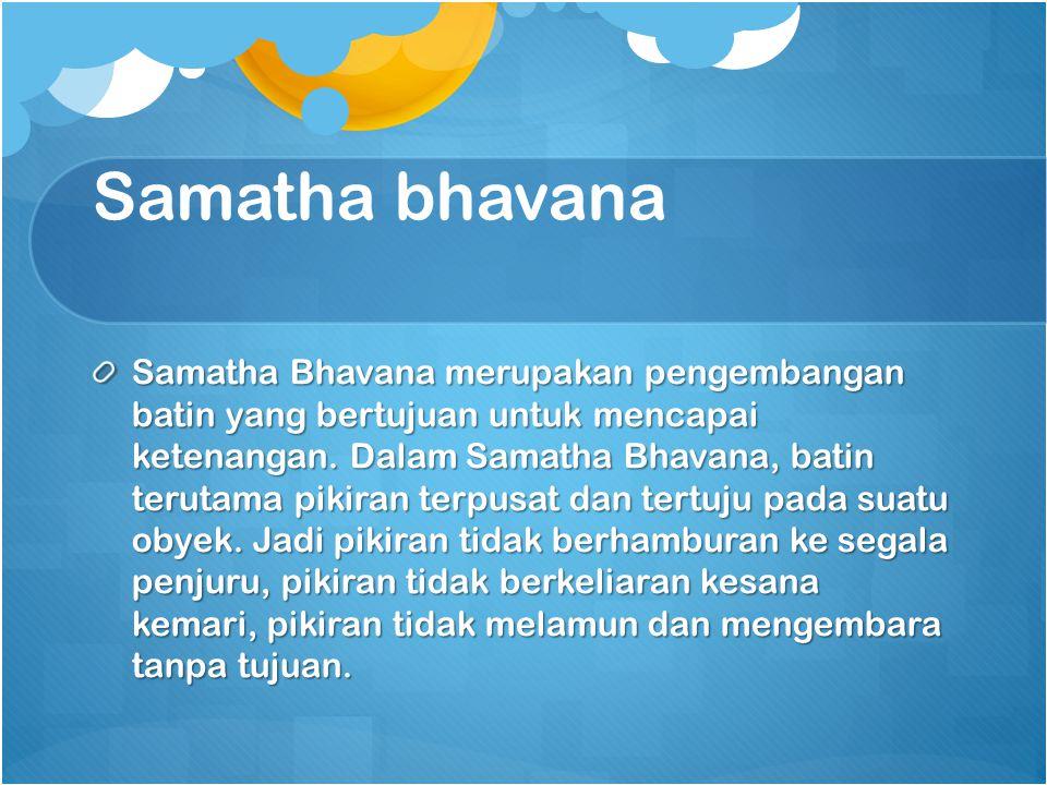 Samatha bhavana
