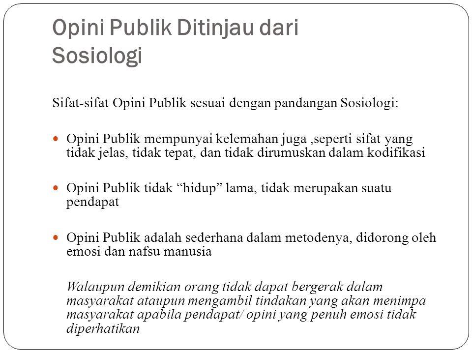 Opini Publik Ditinjau dari Sosiologi