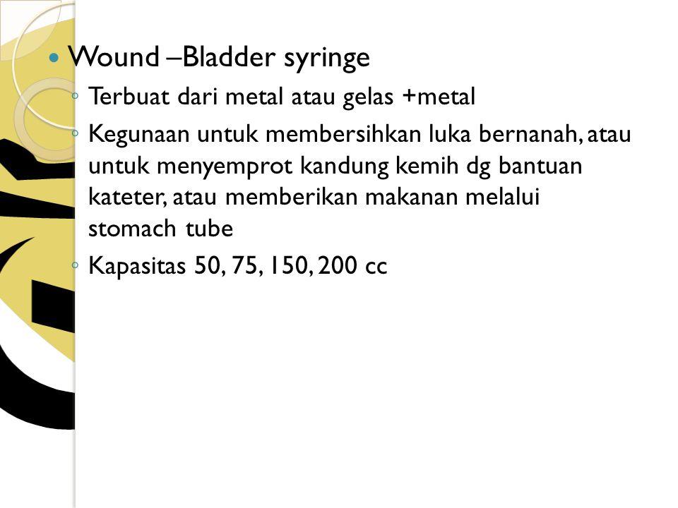 Wound –Bladder syringe