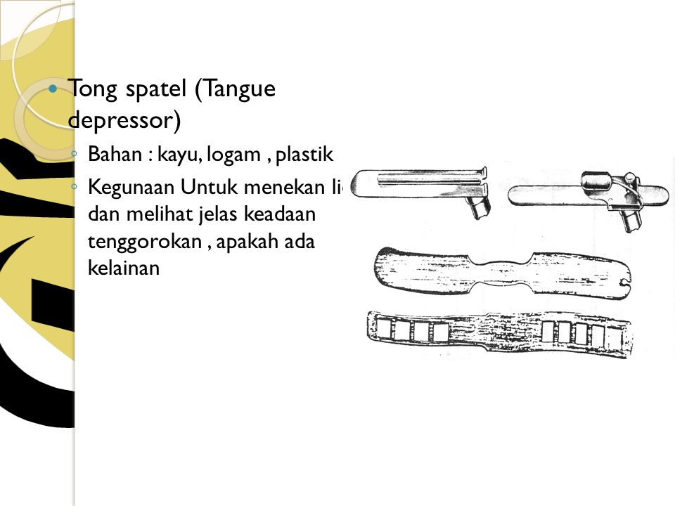 Tong spatel (Tangue depressor)