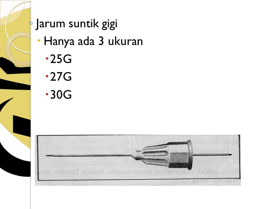 Jarum suntik gigi Hanya ada 3 ukuran 25G 27G 30G
