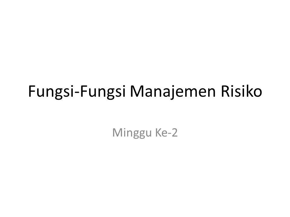 Fungsi-Fungsi Manajemen Risiko