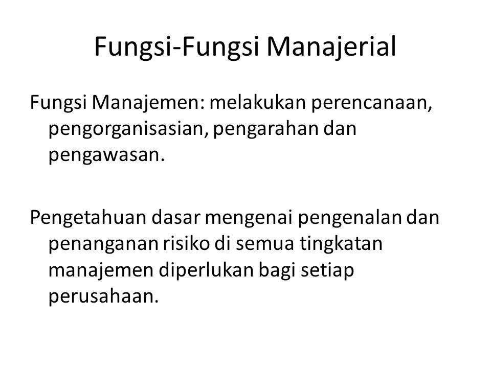 Fungsi-Fungsi Manajerial