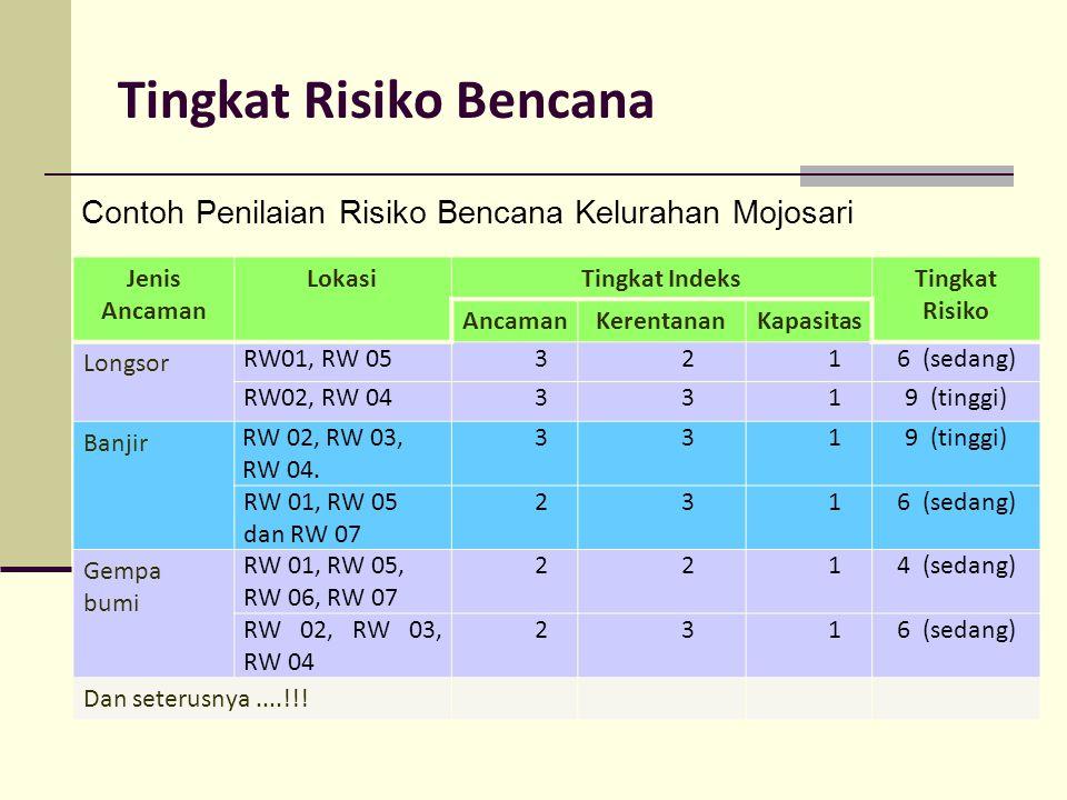 Tingkat Risiko Bencana