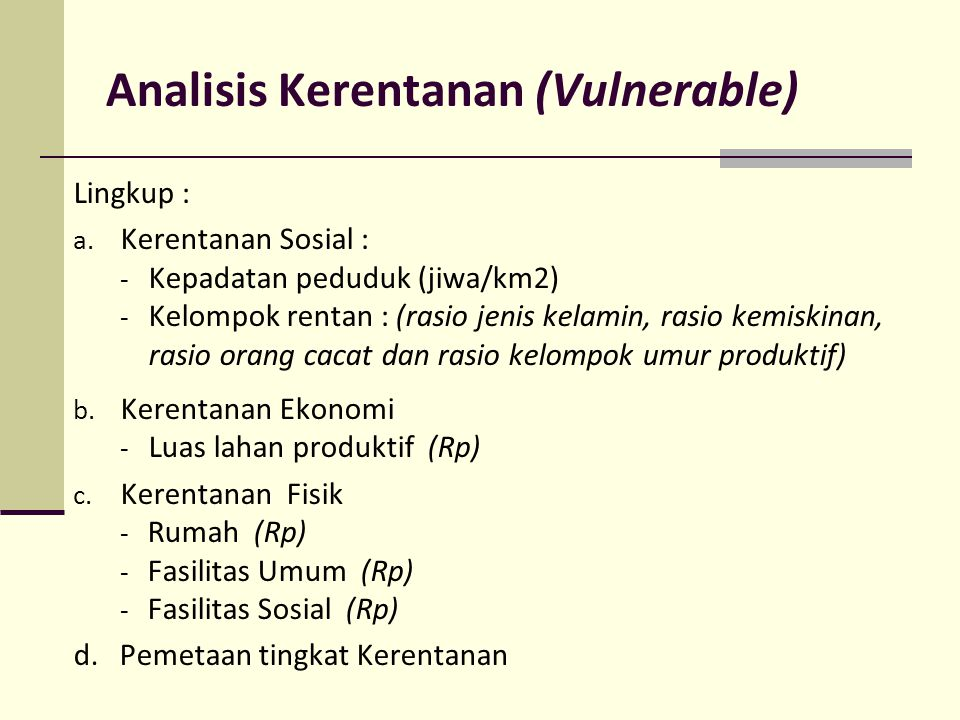 Analisis Kerentanan (Vulnerable)