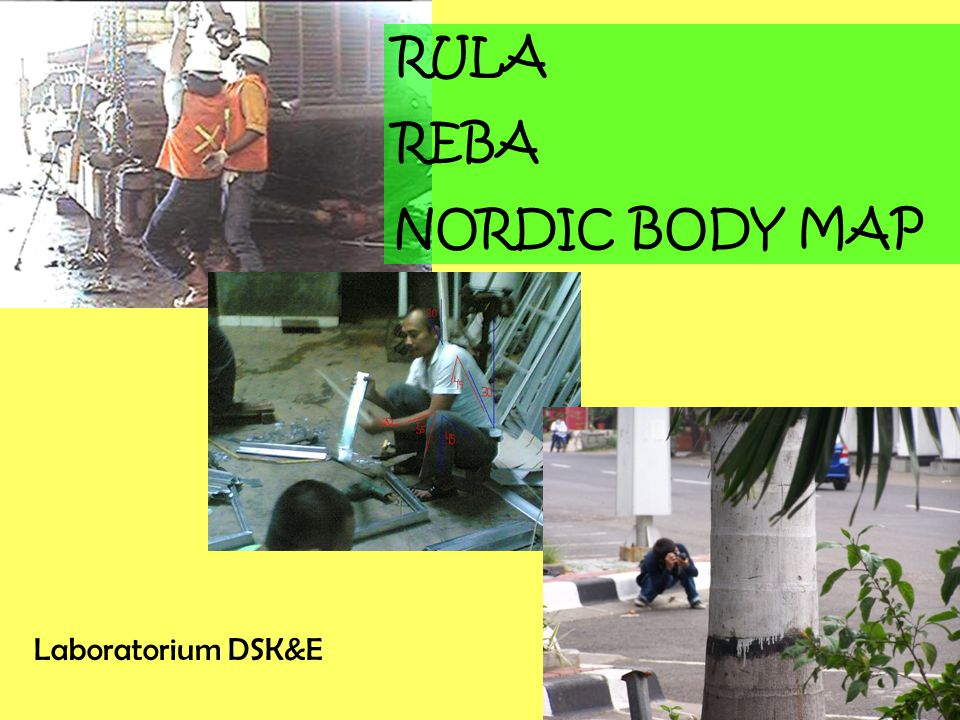 RULA REBA NORDIC BODY MAP Laboratorium DSK&E