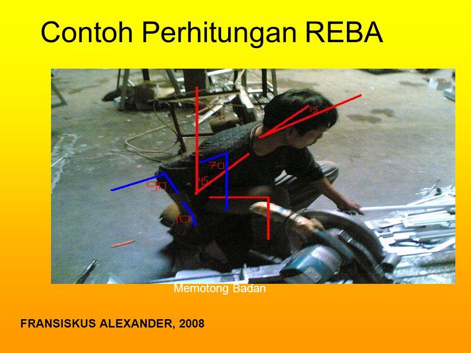 Contoh Perhitungan REBA