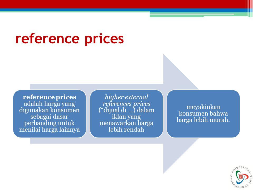 meyakinkan konsumen bahwa harga lebih murah.