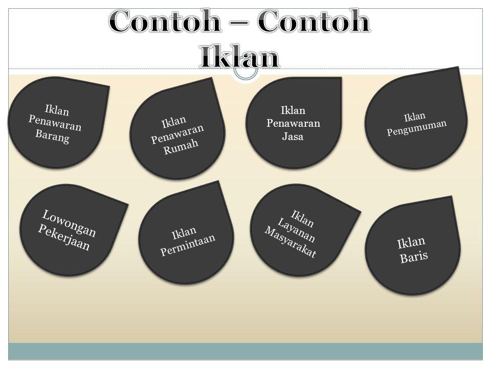 Contoh – Contoh Iklan Lowongan Pekerjaan Iklan Baris