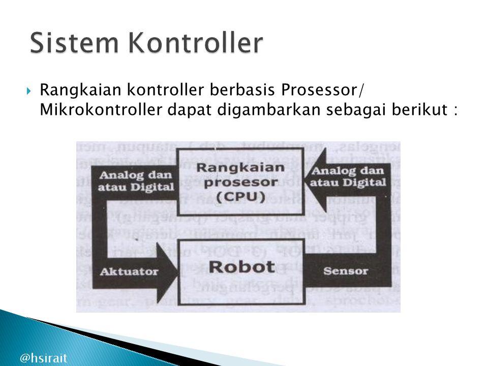Sistem Kontroller Rangkaian kontroller berbasis Prosessor/ Mikrokontroller dapat digambarkan sebagai berikut :