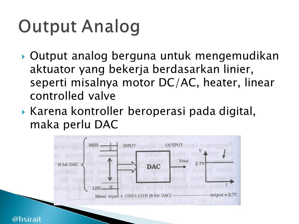 Output Analog