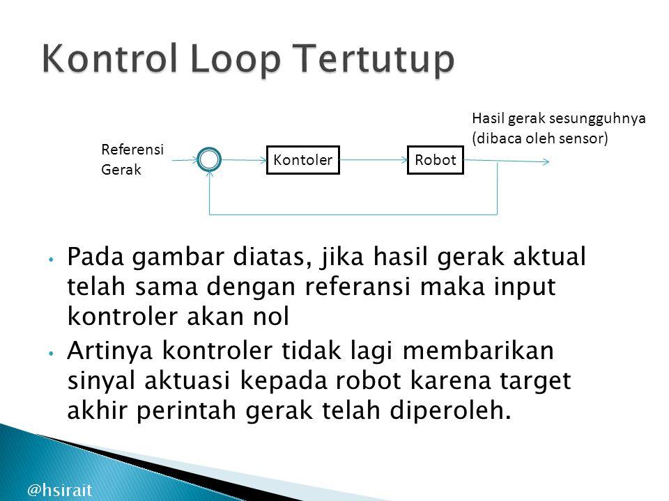 Kontrol Loop Tertutup Hasil gerak sesungguhnya. (dibaca oleh sensor) Referensi. Gerak. Kontoler.