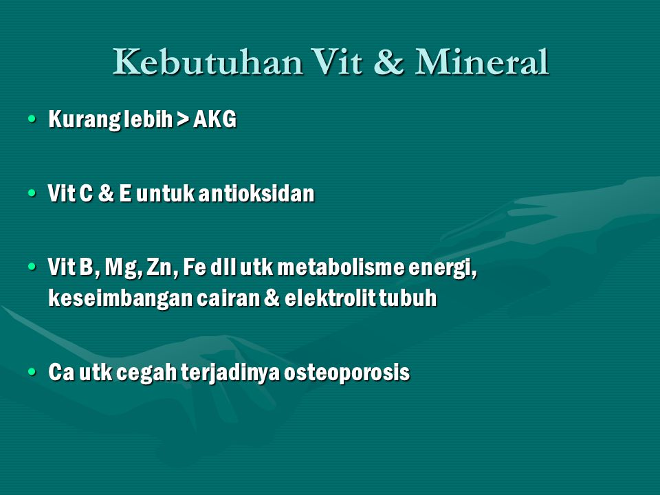 Kebutuhan Vit & Mineral