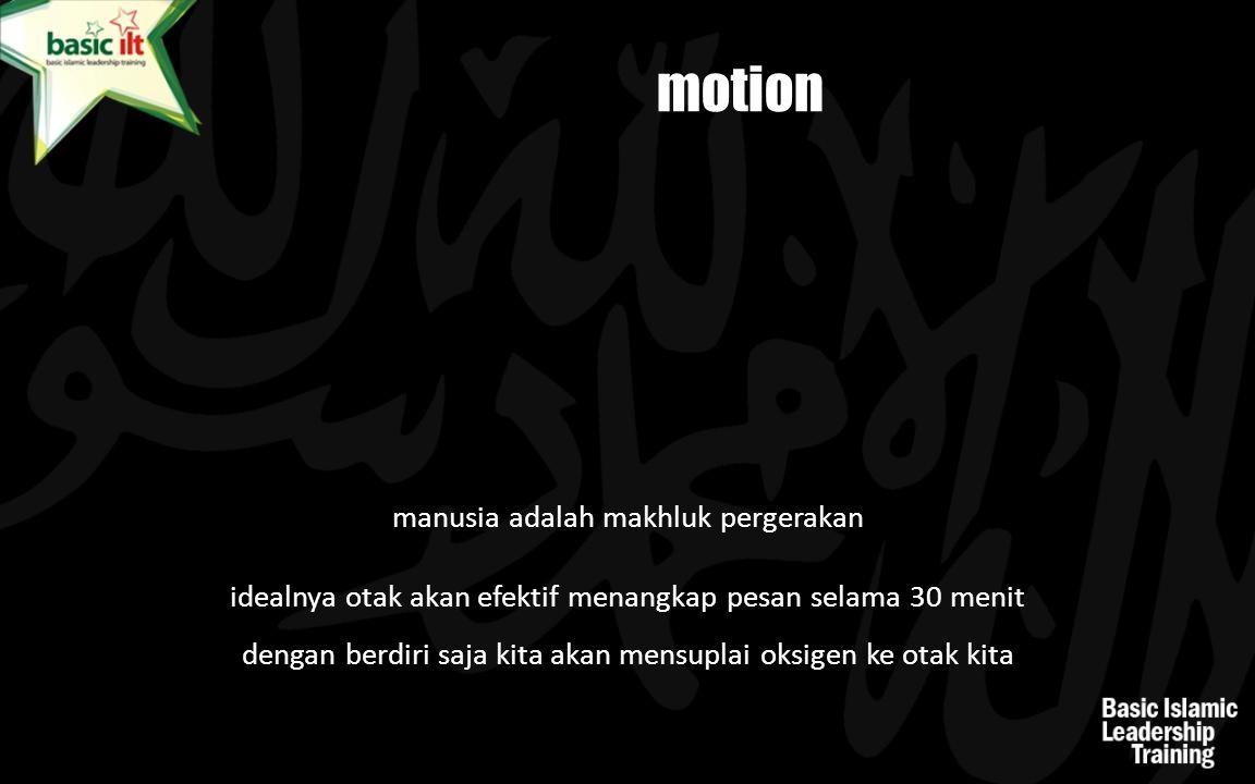 motion manusia adalah makhluk pergerakan