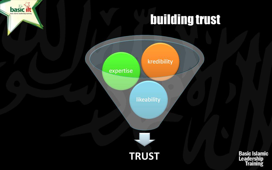 building trust kredibility expertise likeability TRUST