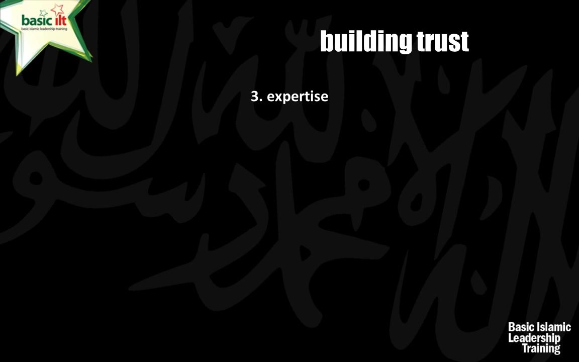 building trust 3. expertise