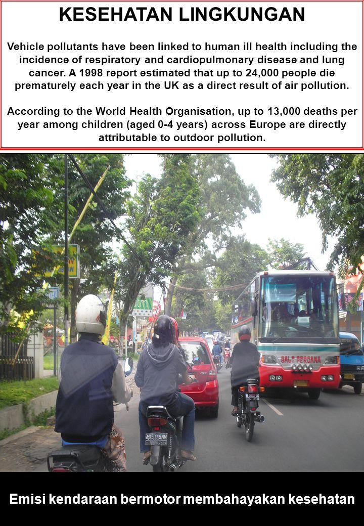 Emisi kendaraan bermotor membahayakan kesehatan