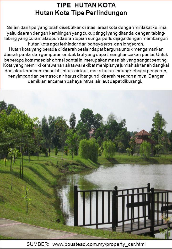 Hutan Kota Tipe Perlindungan