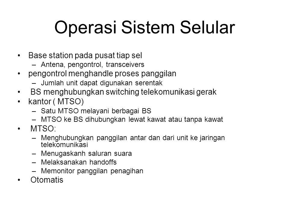 Operasi Sistem Selular