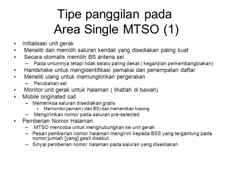 Tipe panggilan pada Area Single MTSO (1)