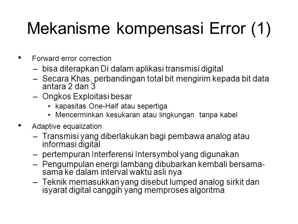 Mekanisme kompensasi Error (1)