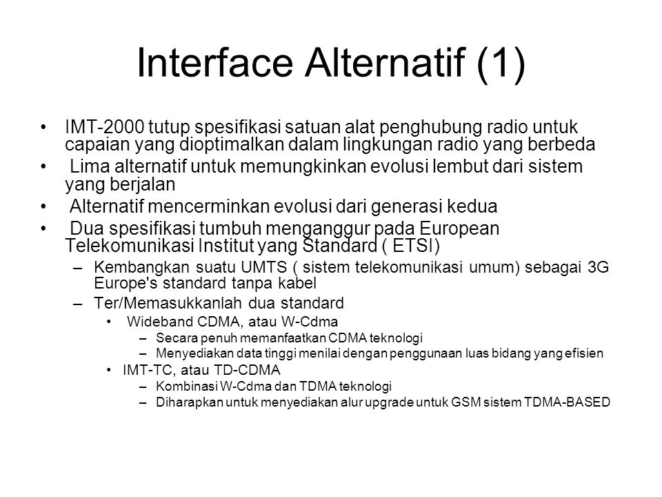 Interface Alternatif (1)