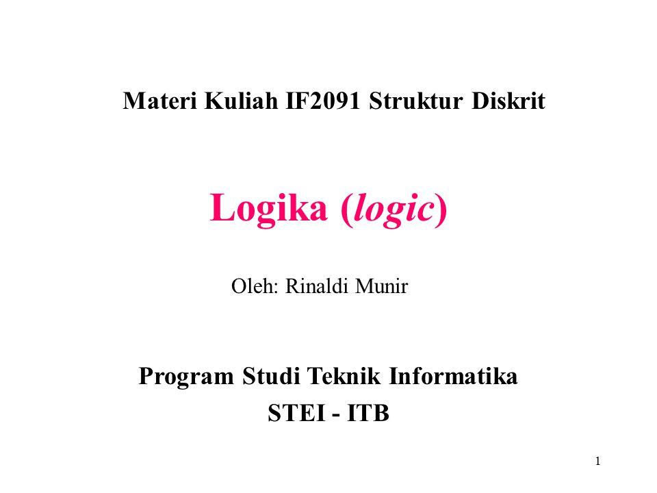Materi Kuliah IF2091 Struktur Diskrit
