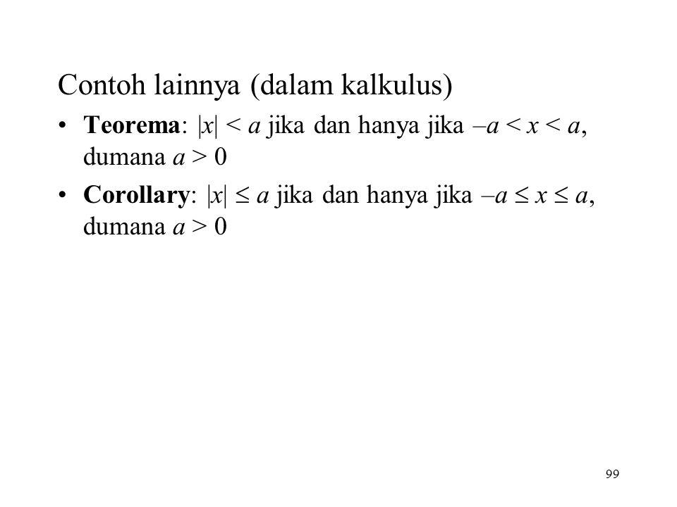 Contoh lainnya (dalam kalkulus)