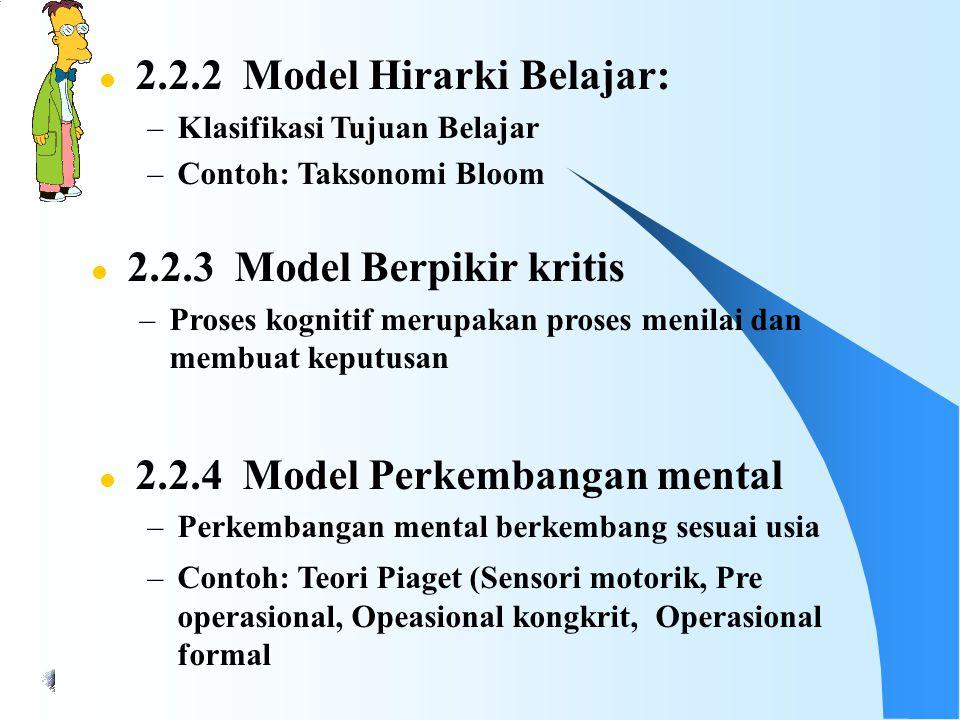 2.2.2 Model Hirarki Belajar: