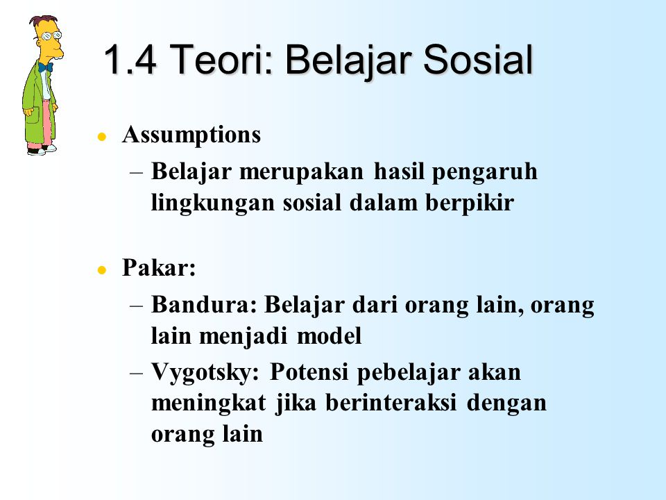 1.4 Teori: Belajar Sosial Assumptions