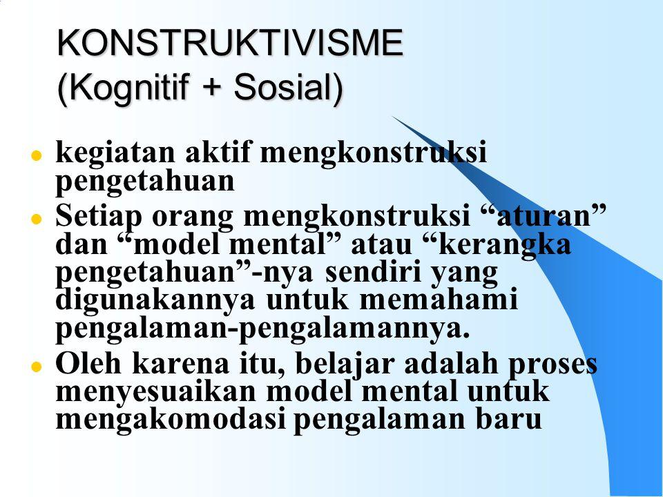 KONSTRUKTIVISME (Kognitif + Sosial)