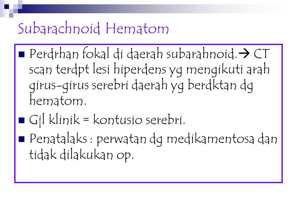 Subarachnoid Hematom