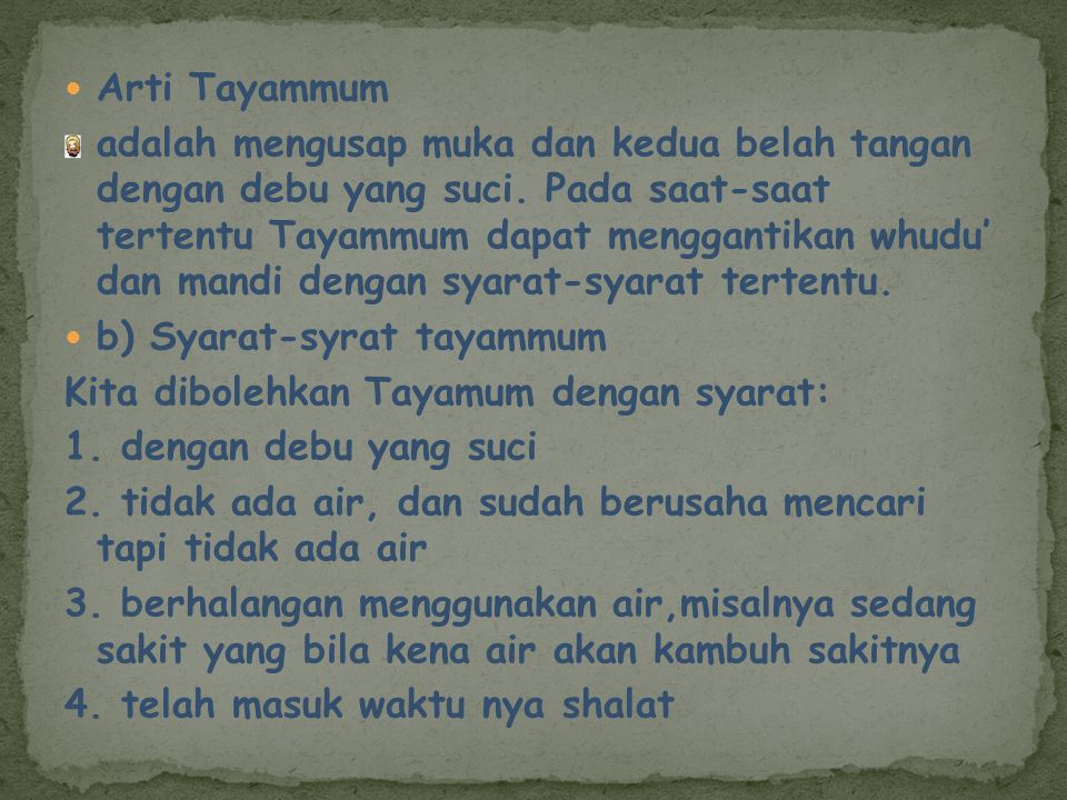 Arti Tayammum
