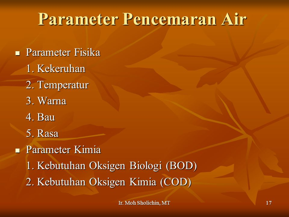 Parameter Pencemaran Air