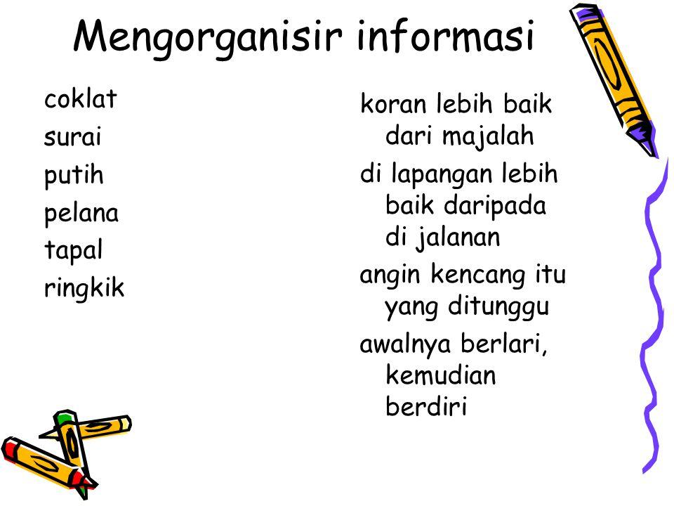 Mengorganisir informasi